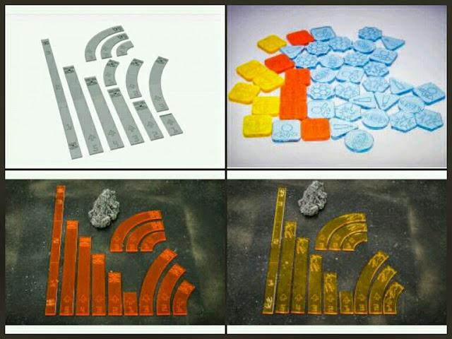 tokens y plantillas de movimiento X-Wing Bandua