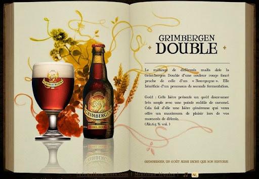 Bruselas Valonia: Pagina web de la cerveza de abadia Grimbergen donde se explican las caracteristicas de la Grimbergen doble