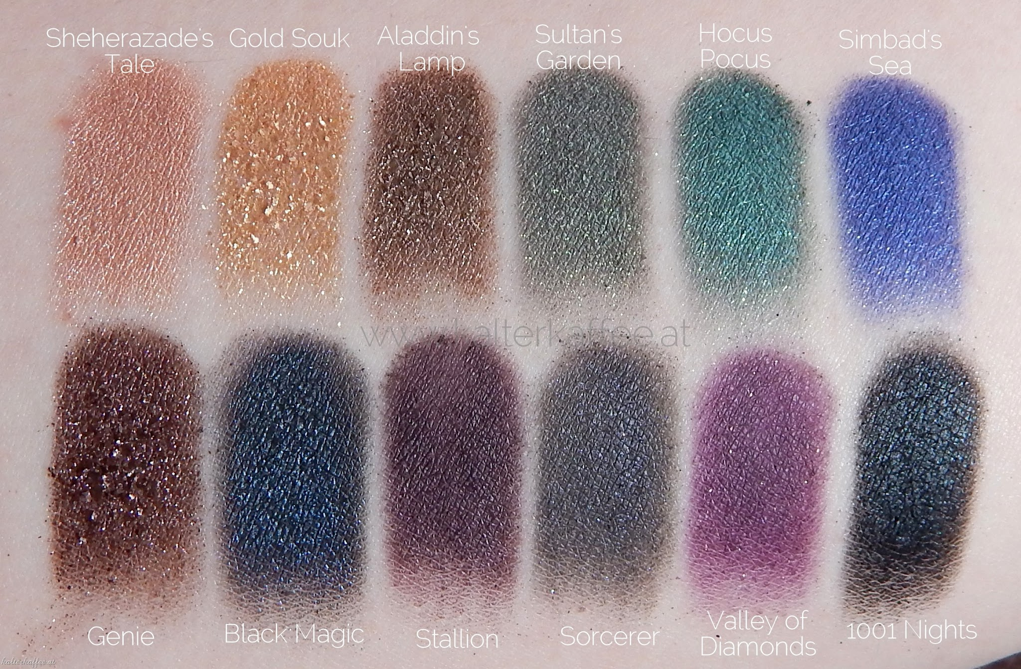 Sleek i-Divine Arabian Nights Swatches