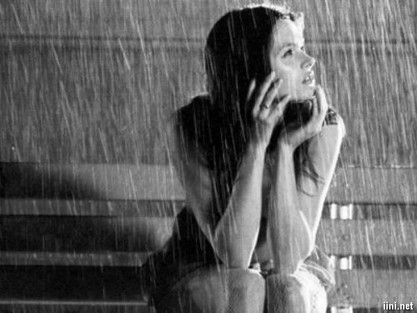 ảnh buồn trong chiều mưa