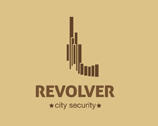 Revolver-City Security Logo