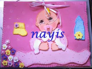 libro de firmas baby shower nacimiento niña en foami