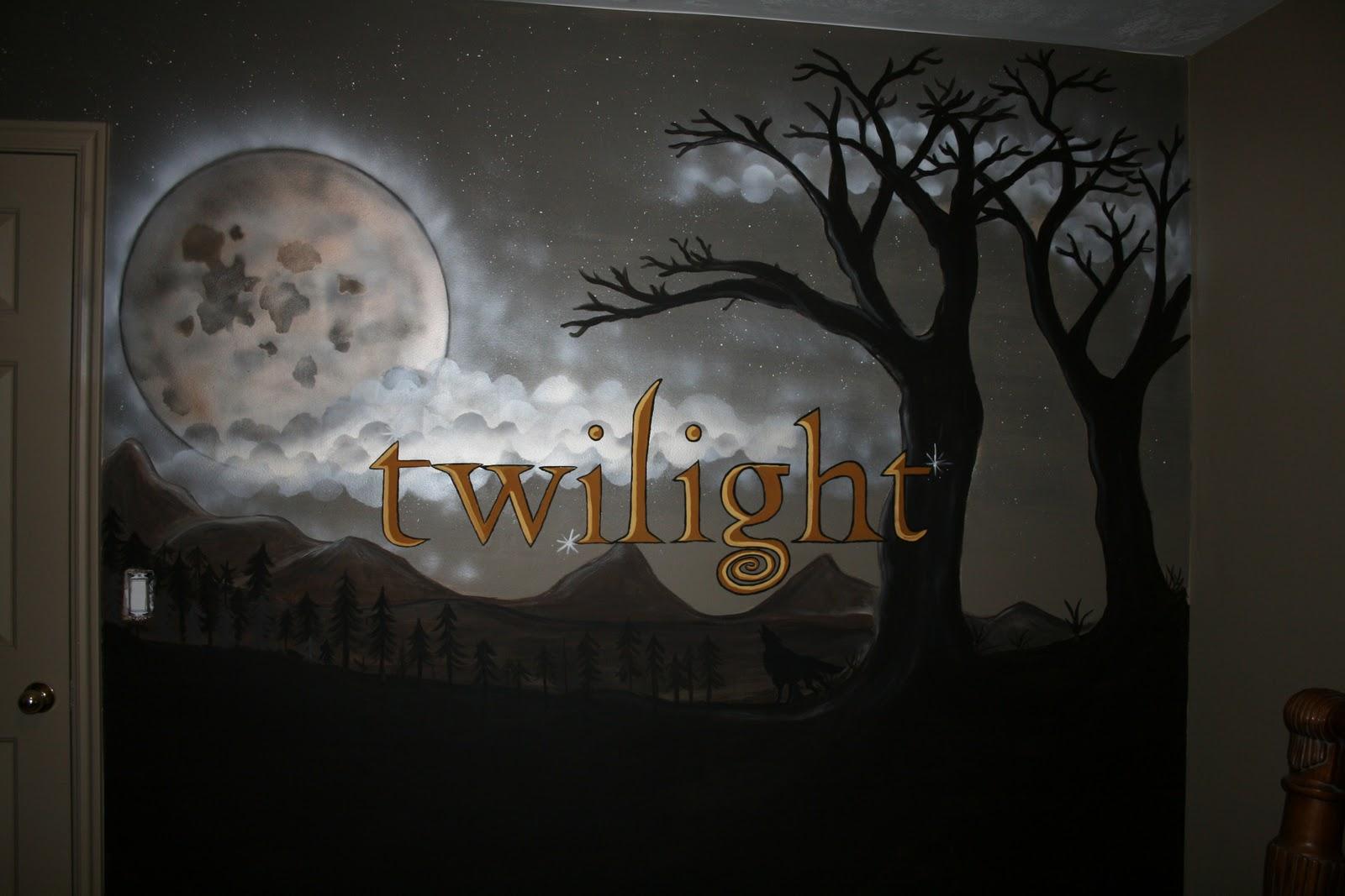 Movie Themed Bedroom Artistic Murals Twilight Theme Mural