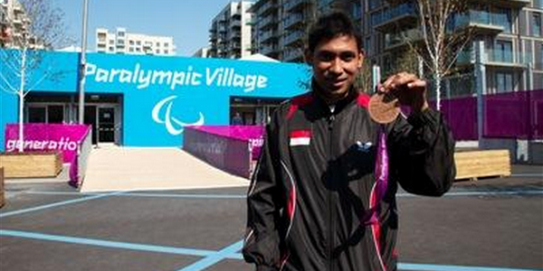 David Jacobs Atlet Difabel Indonesia di Paralimpiade London 2012