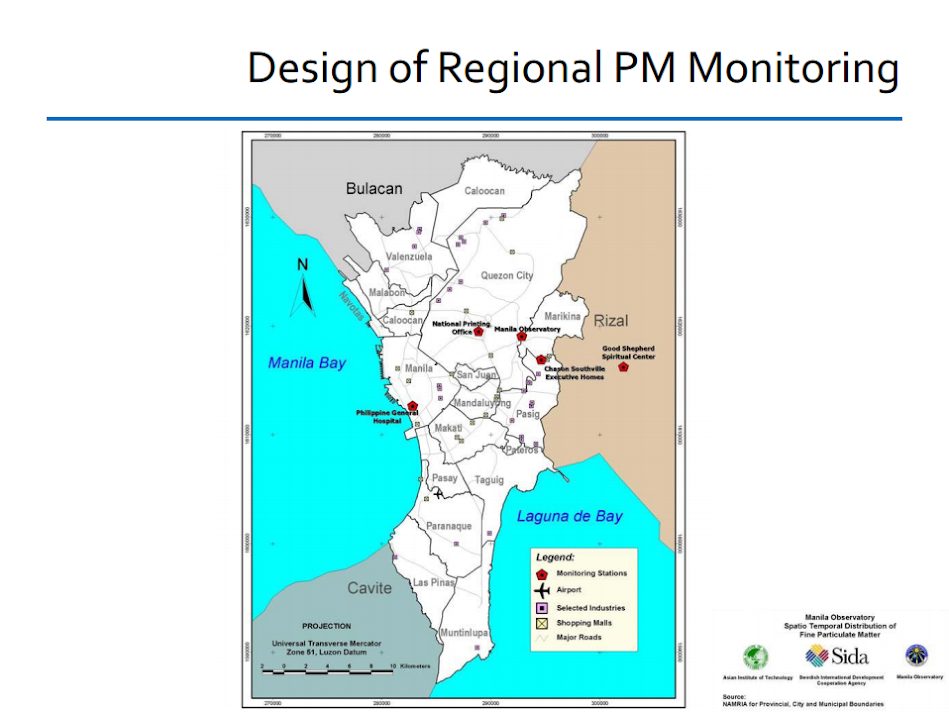 Regional PM Monitoring: participating Philippine stations