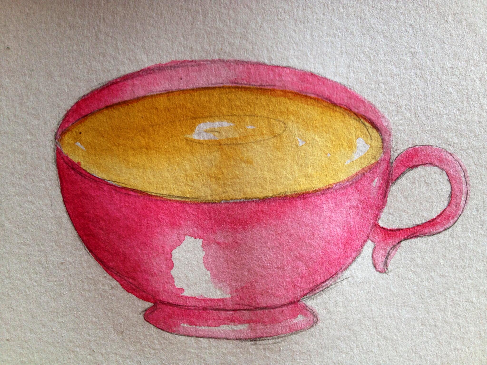 La La Vagabond: How to Draw a Cup of Tea...
