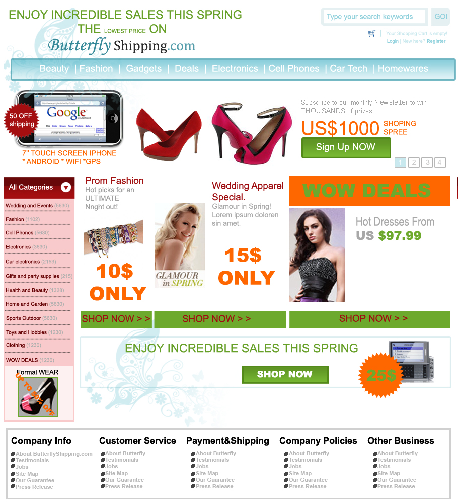 Photoshop web graphics clean online store header tutorial clean beautiful online store layout part d baditri Image collections