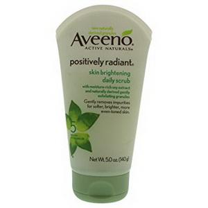 Sữa rửa mặt trắng da tẩy da chết hàng ngày Aveeno Positively Radiant