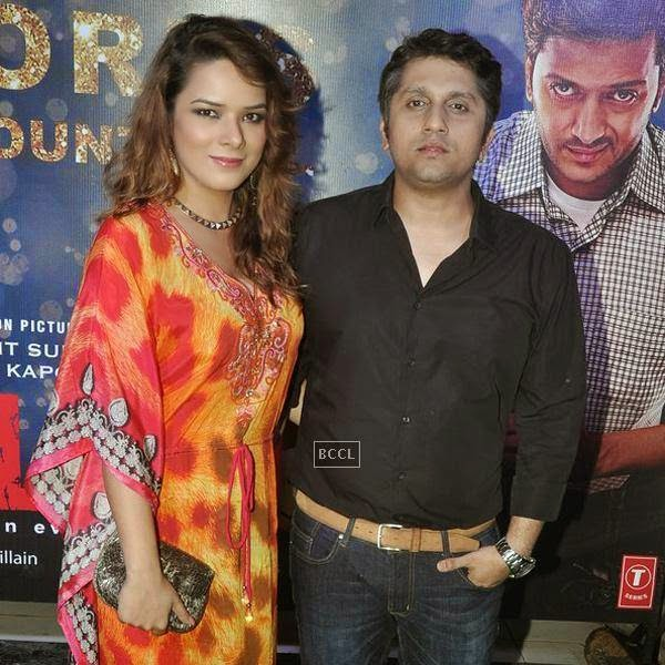 Udita Goswami and Mohit Suri during the success party of Bollywood movie 'Ek Villain', held at Ekta Kapoor's residence on July 15, 2014.(Pic: Viral Bhayani)