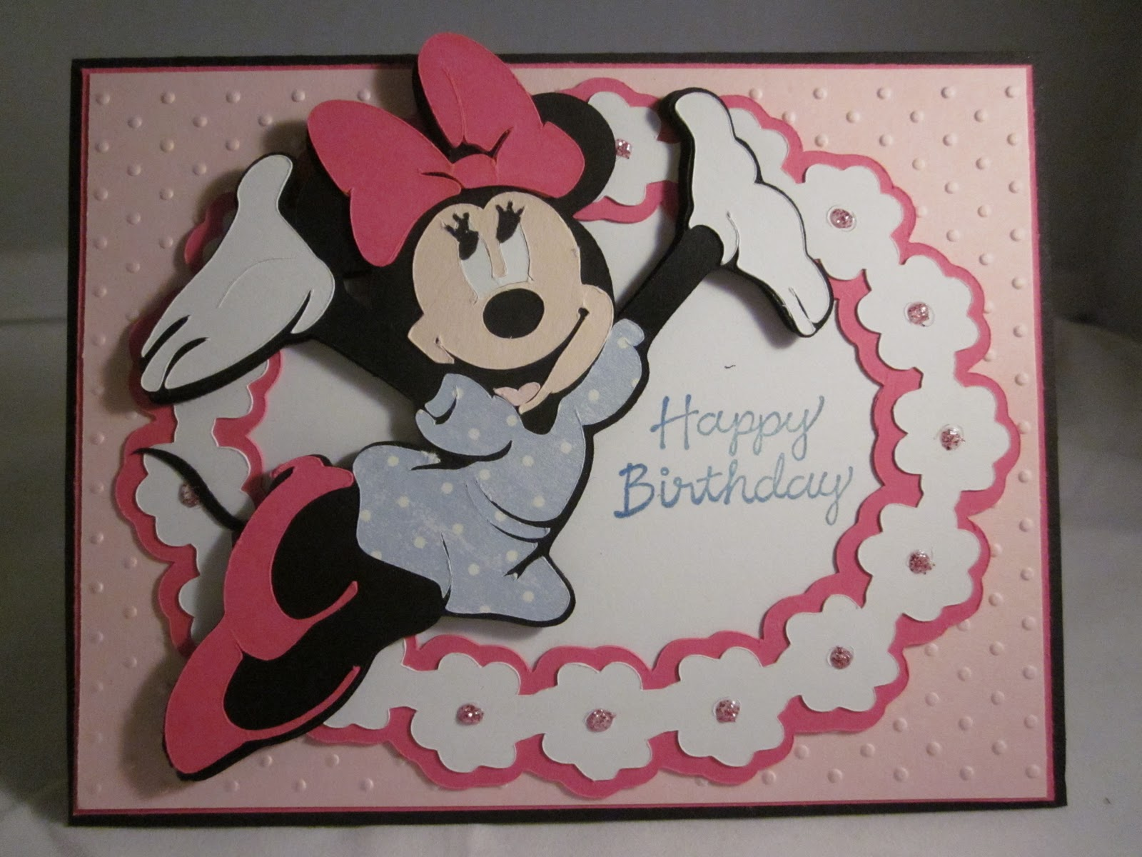 Paper Scissors Ink Minnie Mouse Birthday Card