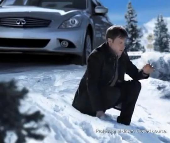 The Infiniti G Sedan Takes Out A BMW With A Giant Snowball