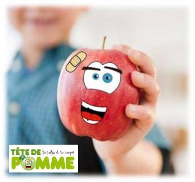 tete-de-pomme-autocollants-comestibles-fruits
