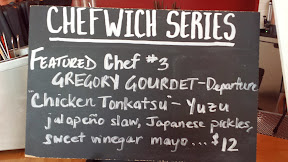 Chefwich #3 with Lardo and Gregory Gourdet of Departure: Chicken Tonkatsu yuzu jalapeno slaw, Japanese pickles, and sweet vinegar mayo