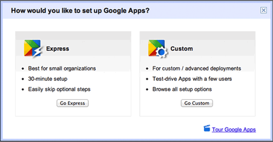 Google Apps Standard for Free.