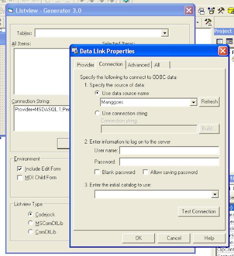 VB6 Listview Generator - Memilih database