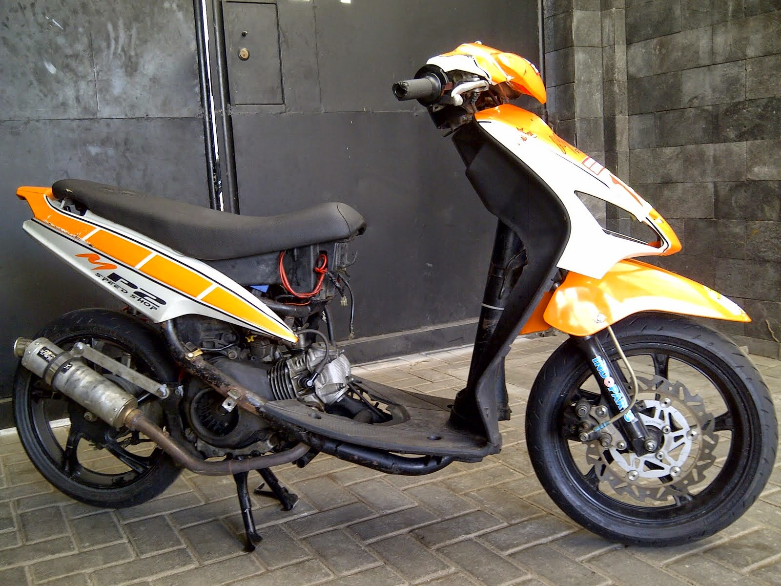 modifikasi mio ala road race terbaru