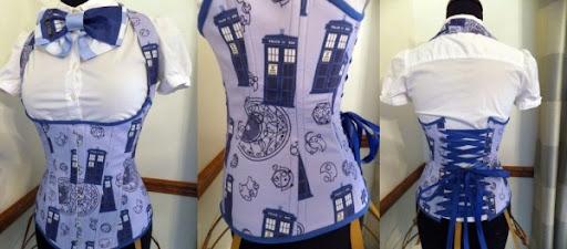 Sexy TARDIS Corset And Skirt1