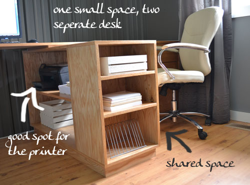 Ana White | Eco Modular Office Desktop made with PureBond Plywood - DIY Projects