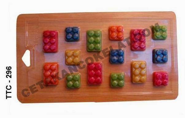 Cetakan Coklat TTC296 Lego Mainan Bongkar pasang