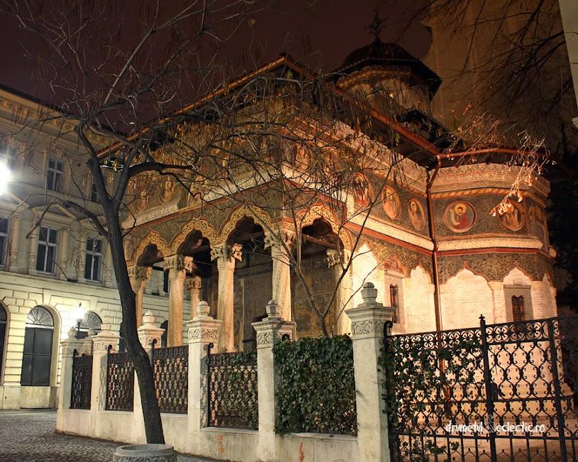 Bucuresti Bucharest noapte stil brancovenesc church arhitectura