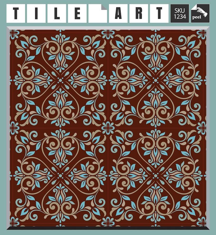 12 tile art wall decals stickers diy kitchen bathroom home decor vinyl