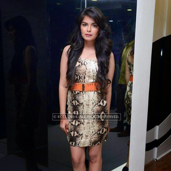 Mehndi attends the launch of salon 'Essensuals', in Chennai.