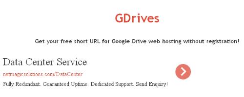 Free URL Shortener Service – Gdrives