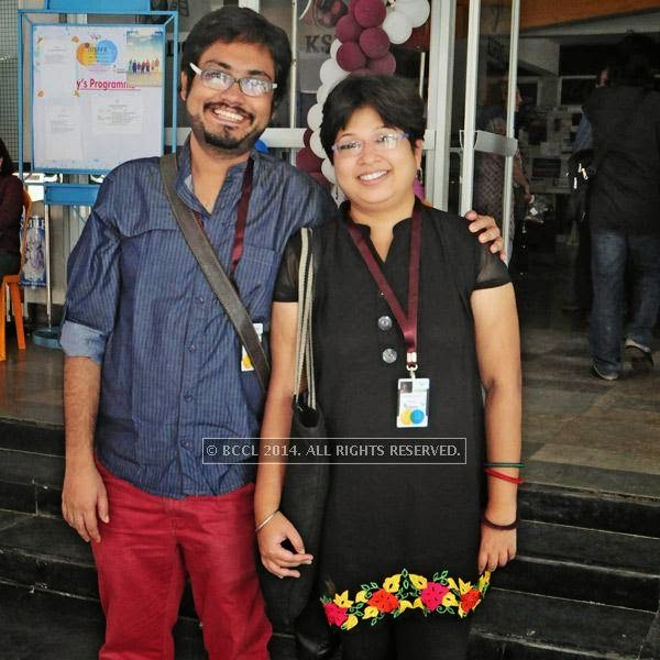Rajdeep Paul and Sarmistha Maiti during the  International Documentary and Short Film Festival that was held at Trivandrum.