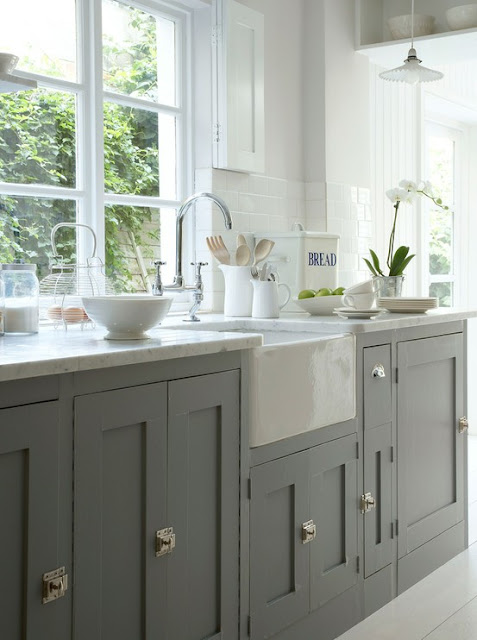 Superior Light Gray Cabinets Via Greige Design Idea
