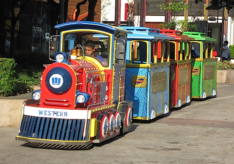 children's train at Bonifacio High Street