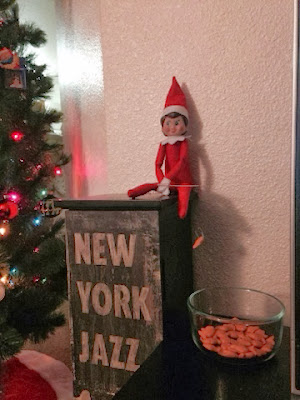 Elf on the Shelf goes fishing for Goldfish crackers! www.thebrighterwriter.blogspot.com