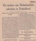 Het werken van Nederlansche arbeiders in Duitschland.