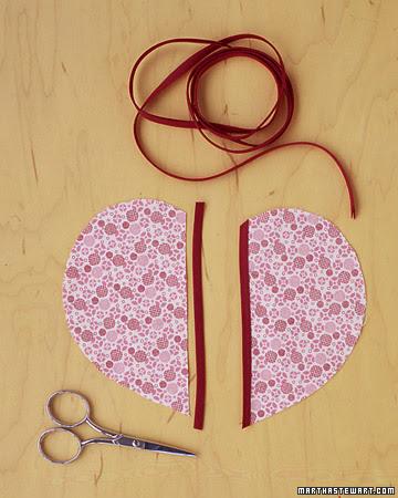 como costurar coração de tecido