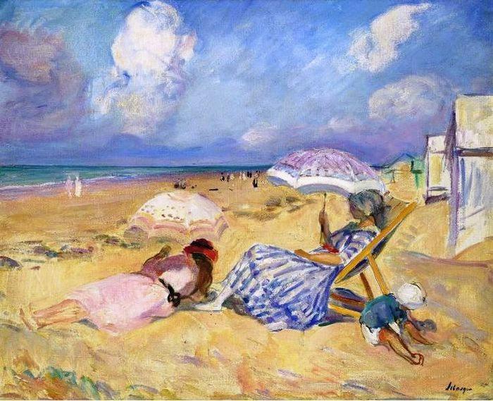 Henri Lebasque - On the Beach