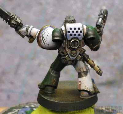 weathering armour with powders and pencils exhaust vents