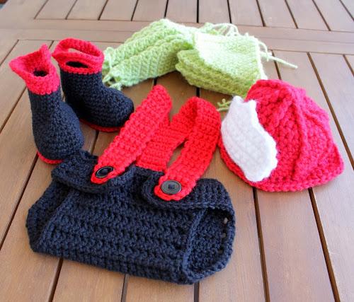 Firefighter crochet costume