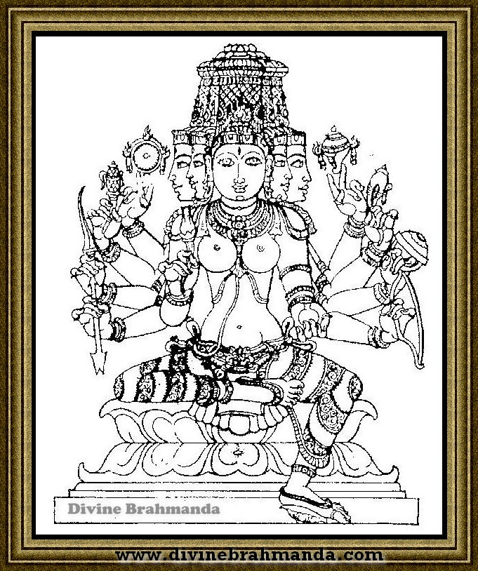 Soundarya Lahari Sloka, Yantra & Goddess For Getting All Powers - 22