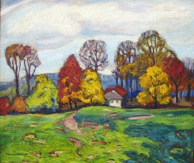 Francis Focer Brown - Brown County Landscape with Homestead