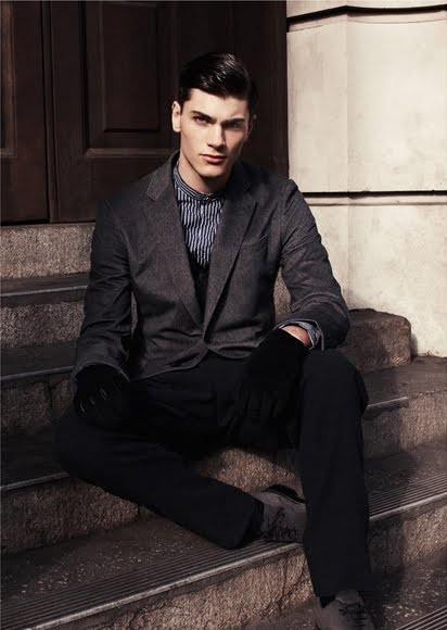 Oscar Spendrup @DNA/Elite Milan by Paolo Zerbini for ICON magazine, 2012.  Styled by Andrea Boschetti.