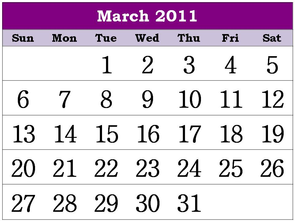 2011 calendar printable monthly. Free Printable Calendar 2011