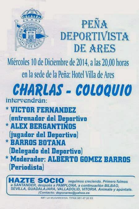 Peña Deportivista de Ares. Charla - Coloqio.
