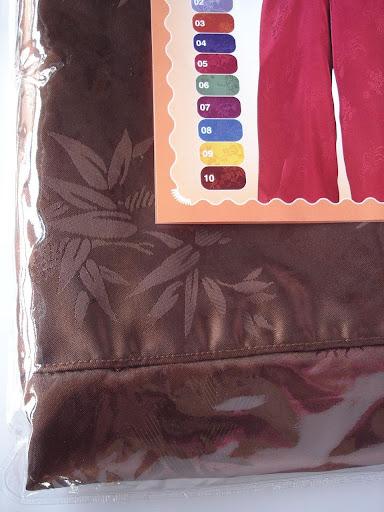 กางเกงแพรจีนแท้รุ่นเอวยาง สีน้ำตาลเข้ม (กางเกงผู้ชาย กางเกงนอน )