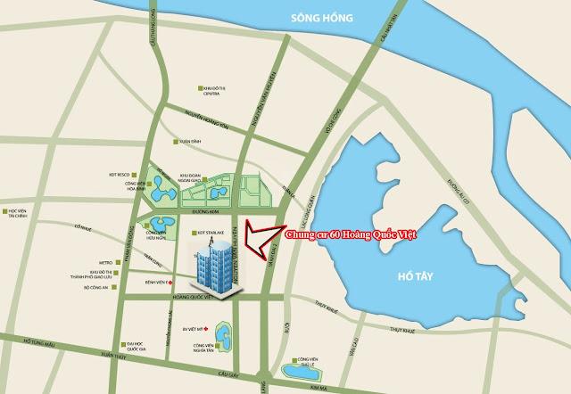 Hạ tầng xung quanh chung cư 60 Hoàng Quốc Việt