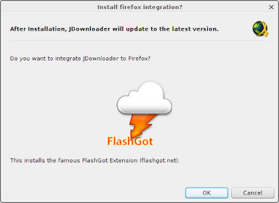 Option to install FlashGot during JDownloader installation
