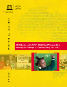 Cover of the UIS education finance report