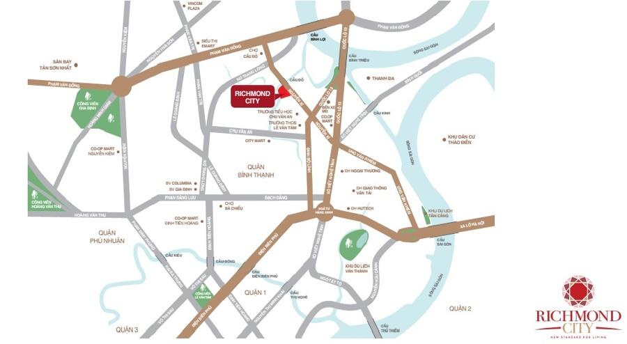 vị trí dự án richmond city