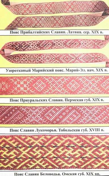 пояса славян со свастикой