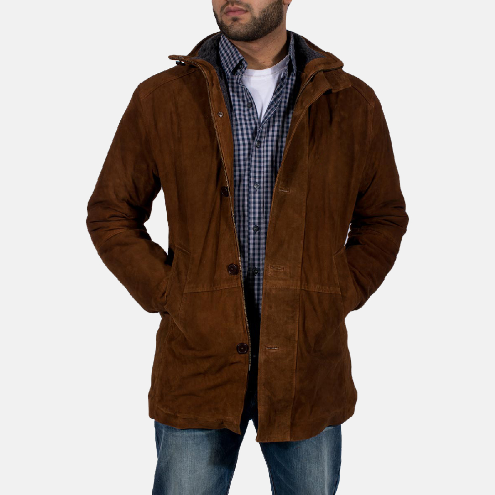 Sheriff brown leather jacket