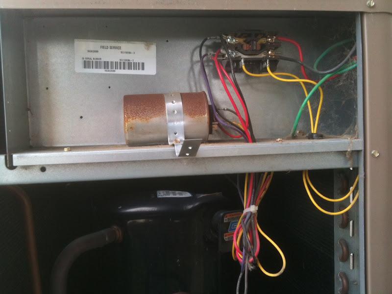 Central Air Outside Unit Fan Failed Compressor