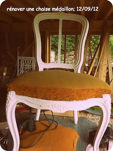 R nover une chaise m daillon le blog de claire et azdine for Renover une chaise medaillon